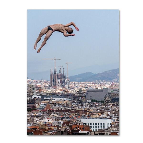 Klaus Lenzen 'Jump' Canvas Art