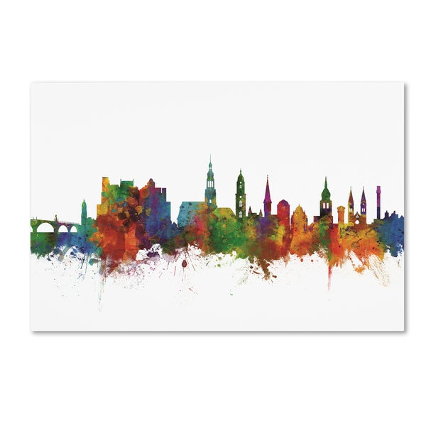 Michael Tompsett 'Heidelberg Germany Skyline IV' Canvas Art
