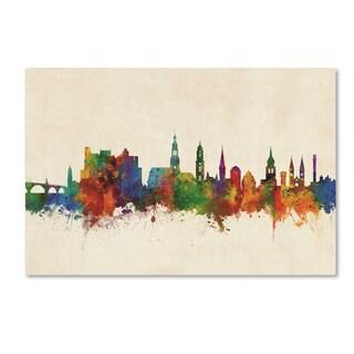 Michael Tompsett 'Heidelberg Germany Skyline III' Canvas Art
