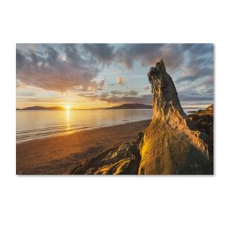 Alan Majchrowicz 'Samish Bay Sunset I' Canvas Art