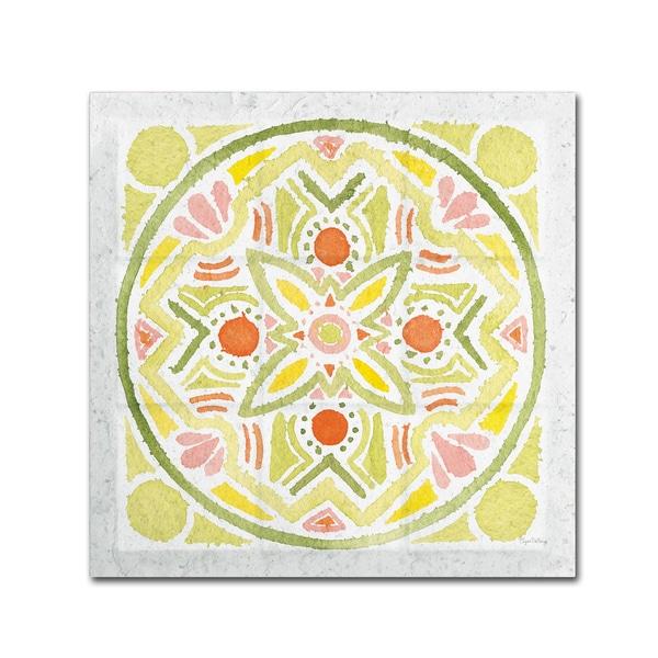Elyse DeNeige 'Citrus Tile III v2' Canvas Art
