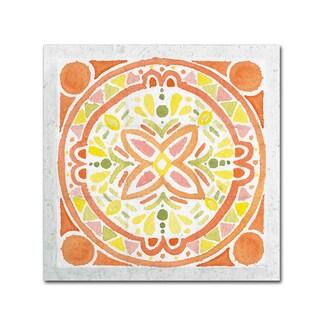 Elyse DeNeige 'Citrus Tile I v2' Canvas Art