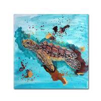 Lauren Moss 'Tortuga Gold' Canvas Art