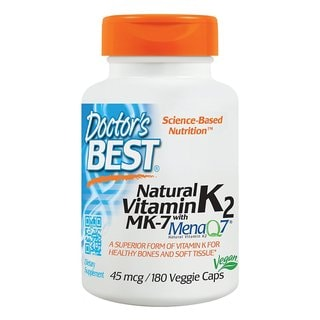 Doctor's Best Natural Vitamin K2 MK-7 with MenaQ7 45 mcg (180 Capsules)