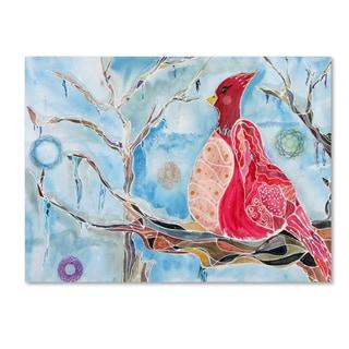 Lauren Moss 'Winter Bird' Canvas Art