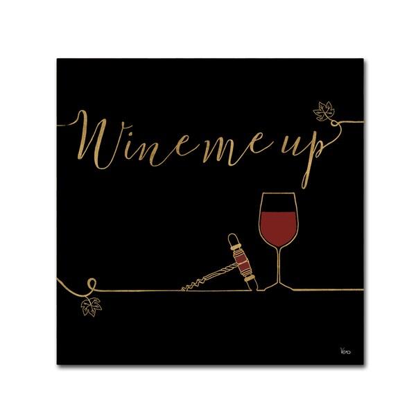 Veronique Charron 'Underlined Wine VII Black' Canvas Art