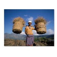 Robert Harding Picture Library 'Character With Baskets' Canvas Art