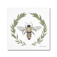 Sara Zieve Miller 'Happy to Bee Home I' Canvas Art
