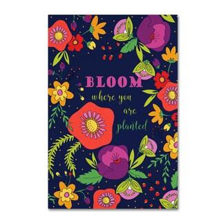 Jyotsna Warikoo 'Bloom Where You Are Planted' Canvas Art