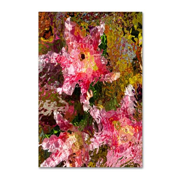 Geoffrey Baris 'Stargazer Lilies 4' Canvas Art