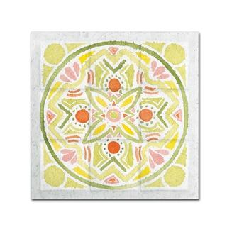 Elyse DeNeige 'Citrus Tile III' Canvas Art