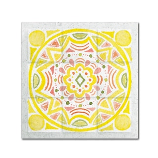 Elyse DeNeige 'Citrus Tile II' Canvas Art