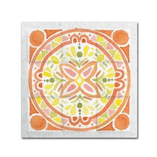 Elyse DeNeige 'Citrus Tile I' Canvas Art
