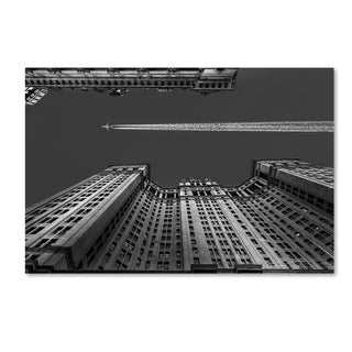 Michael Jurek 'New York Flight Over Manhattan' Canvas Art