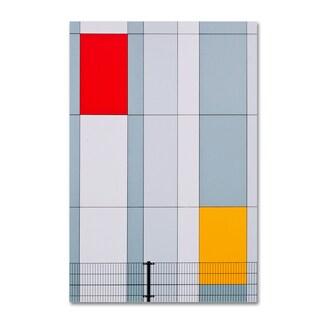 Henk Van Maastricht 'Mondriaan' Canvas Art