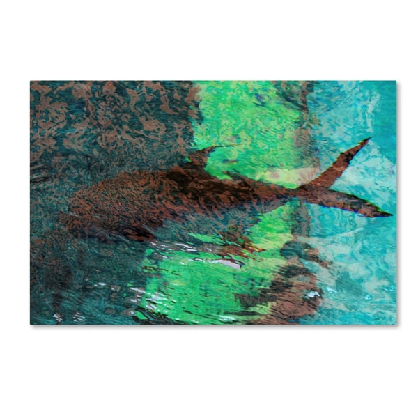 Geoffrey Baris 'Fish Abstract' Canvas Art