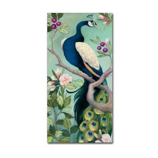 Julia Purinton 'Pretty Peacock I' Canvas Art