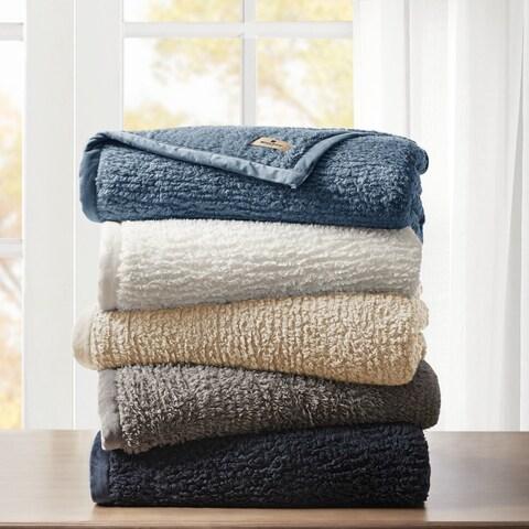 Woolrich Burlington Soild Berber Brushed Blanket