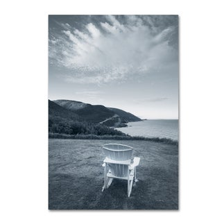 Alan Majchrowicz 'By the Sea IV no Border' Canvas Art