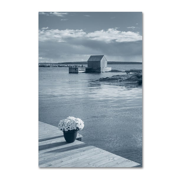 Alan Majchrowicz 'By the Sea III no Border' Canvas Art