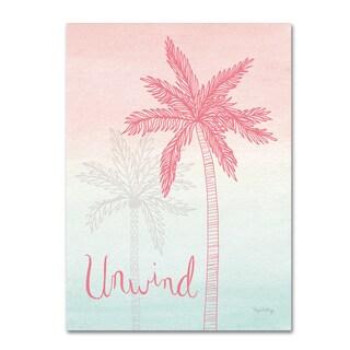 Elyse DeNeige 'Sunset Palms III' Canvas Art