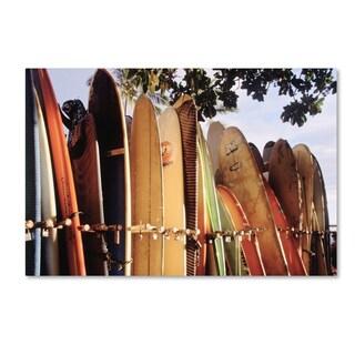 Joe Felzman Photography 'Long Boards Waikiki' Canvas Art