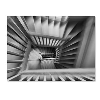 Henk Van Maastricht 'Old Staircase' Canvas Art