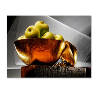 Joe Felzman Photography 'Apple In A Gold Bowl' Canvas Art