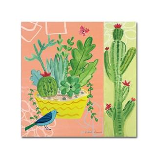 Farida Zaman 'Cacti Garden IV' Canvas Art