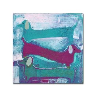 Wyanne '3 Dog' Canvas Art