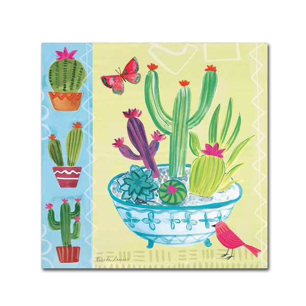 Farida Zaman 'Cacti Garden III' Canvas Art