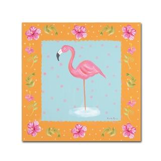 Farida Zaman 'Flamingo Dance IV' Canvas Art