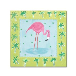 Farida Zaman 'Flamingo Dance III v2' Canvas Art