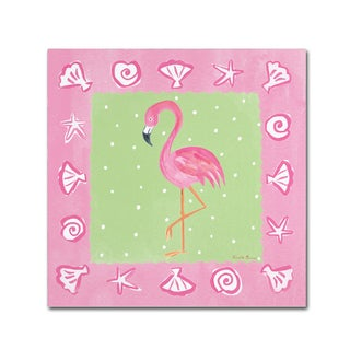 Farida Zaman 'Flamingo Dance II' Canvas Art