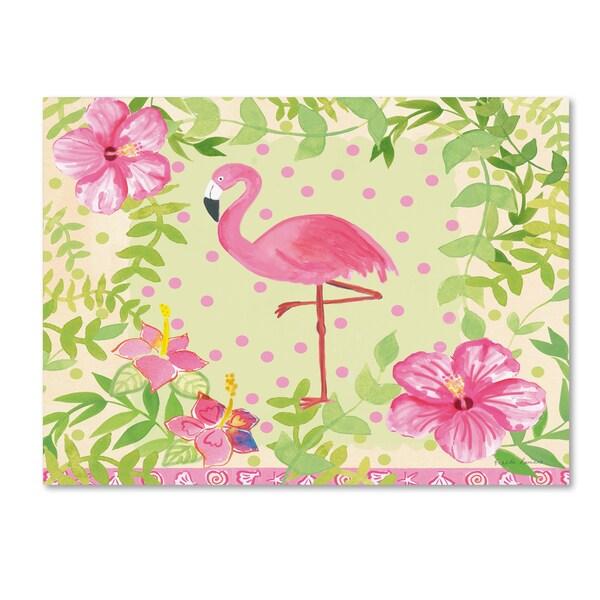 Farida Zaman 'Flamingo Dance I' Canvas Art