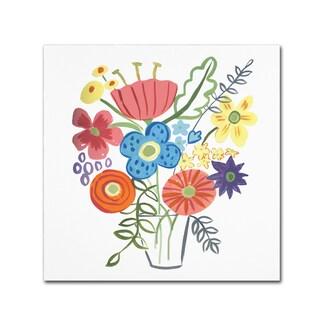 Farida Zaman 'Floral Medley I' Canvas Art