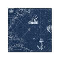 Jean Plout 'Nautical Blues 4' Canvas Art