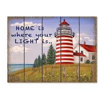 Jean Plout 'Home Lighthouse' Canvas Art