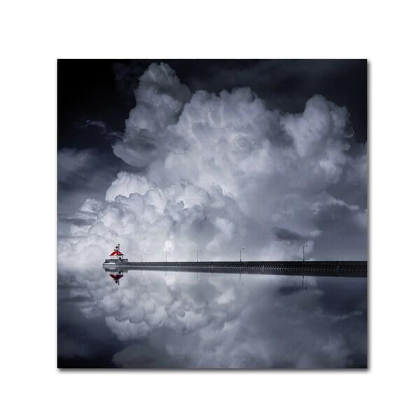 Like He 'Cloud Desending' Canvas Art