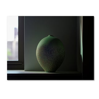 Geoffrey Ansel Agrons 'Green Oviform' Canvas Art