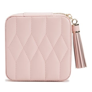 Caroline Zip Travel Case - Rose Quartz