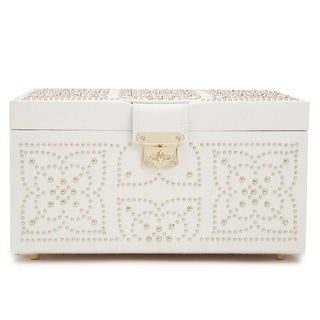 Safavieh SFV1517B Alaina Shagreen Box W//Key Hole Beige NEW