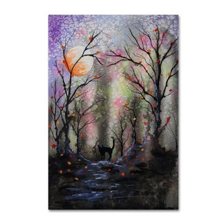 Michelle Faber 'Black Cat In Forest' Canvas Art
