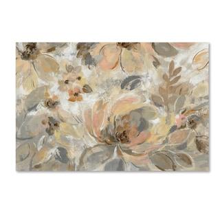 Silvia Vassileva 'Ivory Floral' Canvas Art
