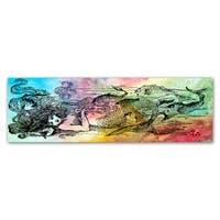 Jean Plout 'Mermaid Under The Sea 2' Canvas Art