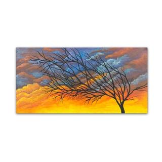 Michelle Faber 'Sunset Tree' Canvas Art