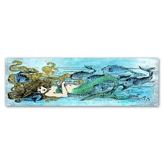 Jean Plout 'Mermaid Under The Sea 1' Canvas Art