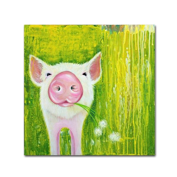 Michelle Faber 'Pig' Canvas Art