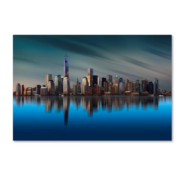 Yi Liang 'New York World Trade Center' Canvas Art
