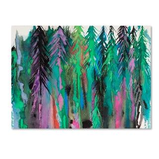 Michelle Faber 'Colorful Forest' Canvas Art